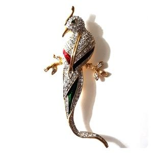 Jewelry - Huge Pavé Cockatoo Bird Brooch